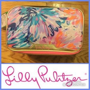 NWT Lilly Pulitzer Large Double Zip Cosmetic Case